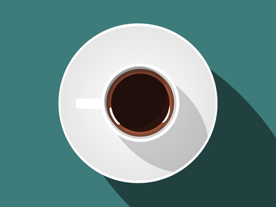 Morning Routine coffee logo flat icon illustration coffee