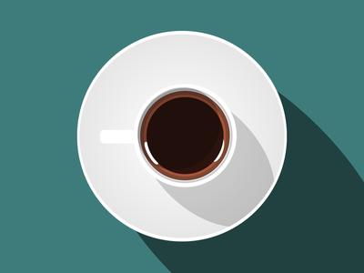 Morning Routine coffee logo flat icon illustration coffee