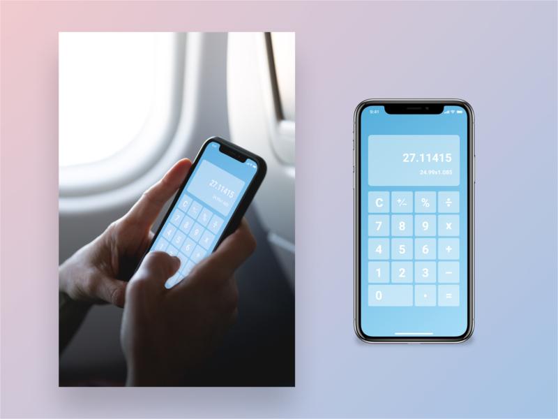 Zen Cal app vector ux ui geometric dailyui design