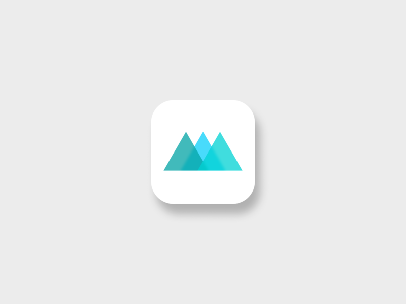 Path App mountains hiking hiking app app ux ui icon logo vector dailyui