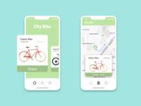 City Bike Rental App bike rental app design geometric web app dailyui ux ui design