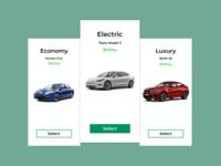 Rent Car Pricing Page rental page price page pricing rental car web ui dailyui ux design