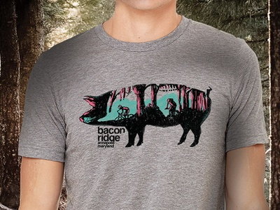 Bacon ridge Shirt Annapolis Maryland nature tshirtillustration tshirt shirt shirtdesign bikeillustration mountainbike mtb