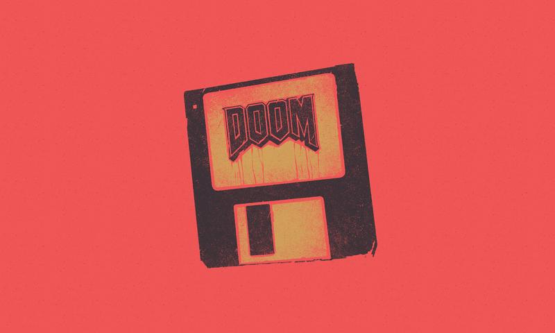 Doom distressed texture hardcore inspo logo metal design vintage illustration illustrator disc doom