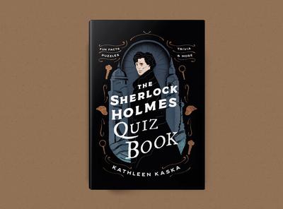 Sherlock Holmes Quiz Book bookdesign art vintage texture design illustration bestdesign mystery bookcover quizbook sherlockholmes holmes sherlock book