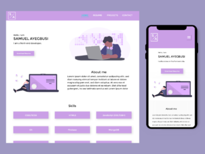 Frontend developer portfolio interface portfolio