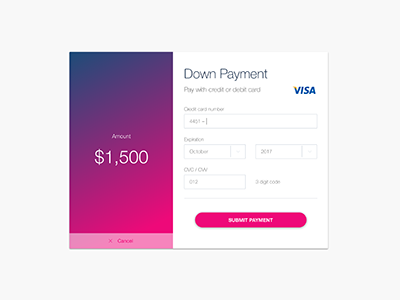 Credit Card Payment UI