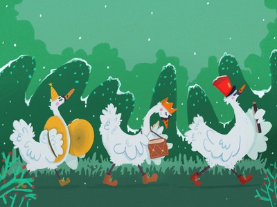 Dance Music postcard project holidays design illustration humorous illustration humor