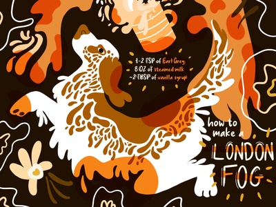 How To Make That: London Fog london fog third wave coffee specialty coffee design animal illustration illustration