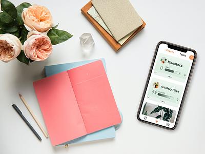 Hausplant - the plant care assistant in your pocket illustration app mobile app plants minimal flat design ui