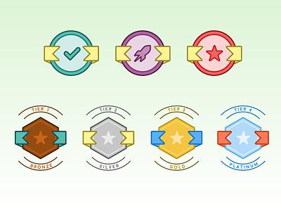 Badges award reward achievement badge