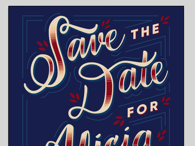 Save the date! calligraphy hand lettering lettering invitation wedding save the date