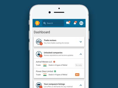 Dashboard dashboard app mobile