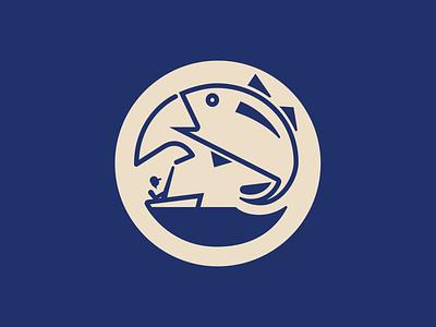 Logo — Migrator Charters boat fishing fish badge branding logo