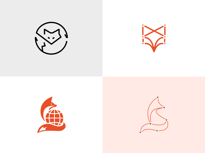 Logo explorations exploration logo trade fox
