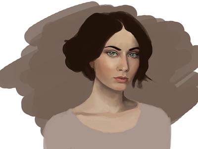 Portrait wip portrait digital painting painting