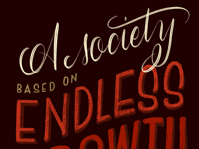 Unsustainable calligraphy procreate lettering