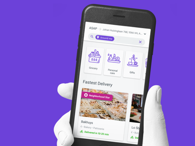 Delivery app design ui mobile app
