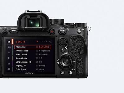 Sony Alpha Camera Menu touch ui ux photography photo menu camera alpha sony