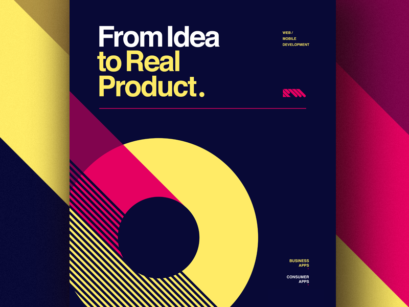 From Idea To Real Product products poster illustration design typography icon vector branding type flat lettering