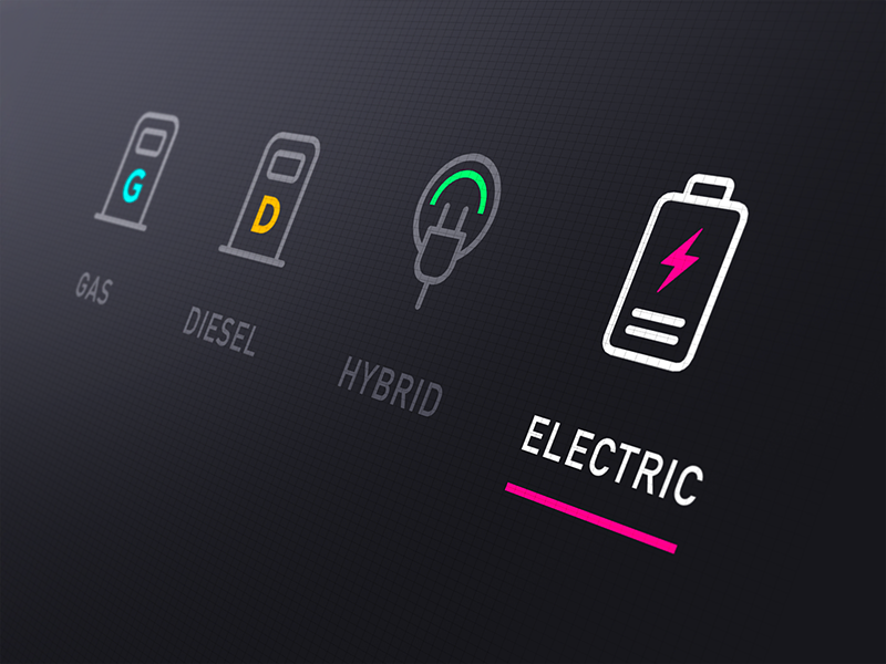 Car Sharing App Concept web ios flat application app vector car ux ui design icon icons