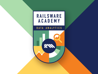 RW Academy Emblem For Data Analytics graph stats statistics learn youtube vector typography illustration flat product management academy arm design