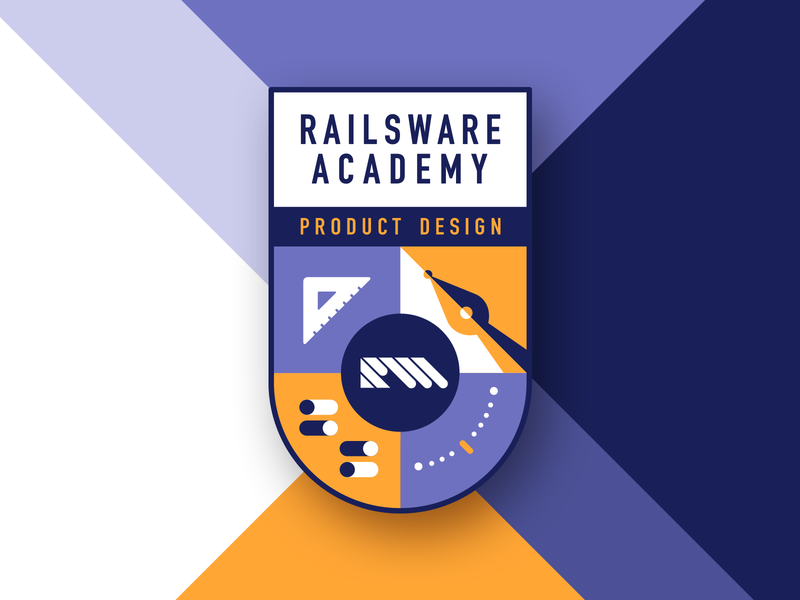 RW Academy Emblem For Product Design product designer curves learn youtube vector typography illustration flat product management academy arm design