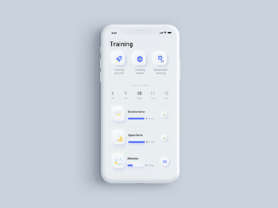 New skeuomorphism app ui