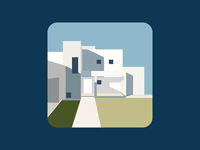 建筑插画 配色 建筑 vector flat illustration