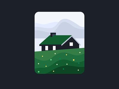 Landscape illustration color matching vector flat illustration