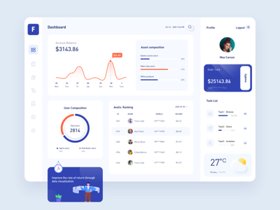 system background chart design vector ui ux ui