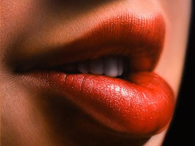 Lips Study acrylic painting art photo realism photorealism realism hyper realism hyperrealism