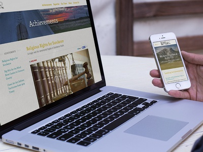 Responsive Website for Tribal Law Firm design front-end development user experience design web design