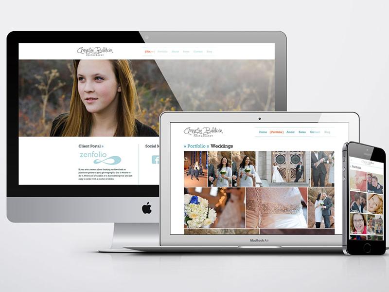 Photography Portfolio Website design front-end development user experience design web design