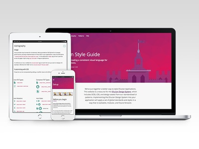 Ellucian Design System & Style Guide ux standards pattern library style guide design system