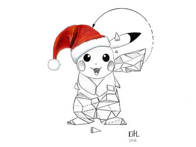 "Pikachu: ""Merry Christmas!"""