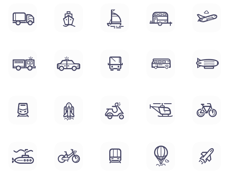 Enchanticons WIP Icon Set sketch wip icon transport holiday vehicle
