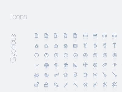 Glyphious icons