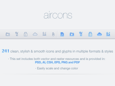 aircons iconset aircons icons iconset web glyph glyphious 16px mini simple soft clean