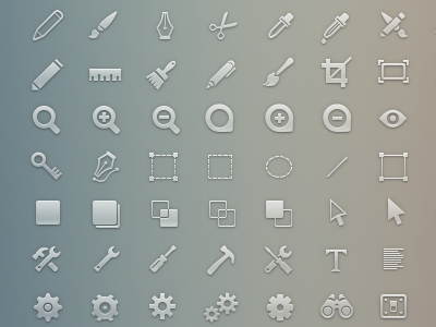 Simplicons Set - Design Tools / Settings icons web app glyphs simplicons simple huge collection design tools settings