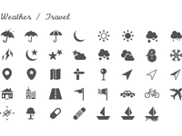 Simplicons - Weather / Travel