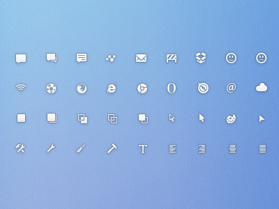 Free PSD - Simplicons Small simplicons web icons glyphs simple modern app internet communication download links design tools web icons