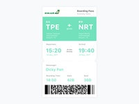 Daily UI #024 - Boarding Pass
