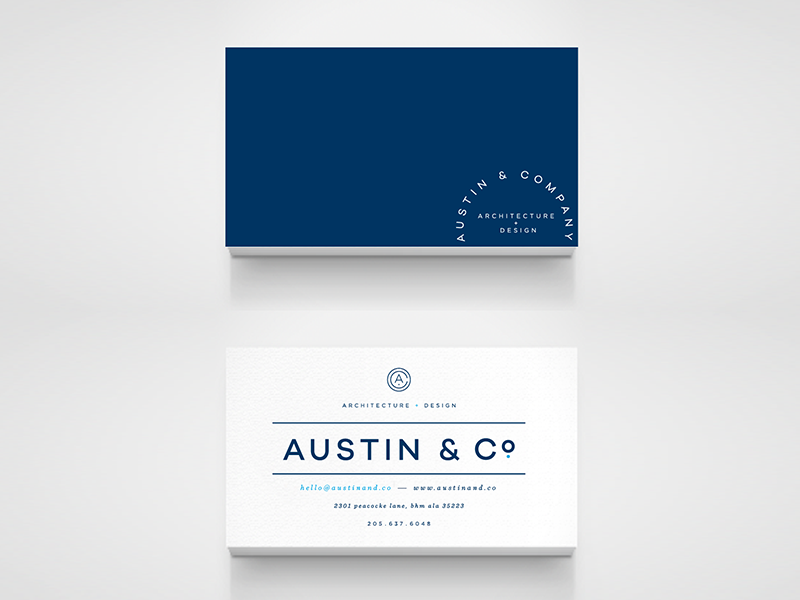 Austin & Co Business Card by Anna Lea Jenkins Dribbble