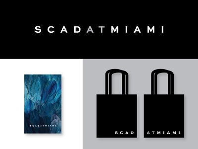 SCAD AT MIAMI scad exhibition miami typography type lockup vinyl identity