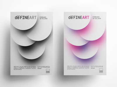 deFINE ART poster / ad