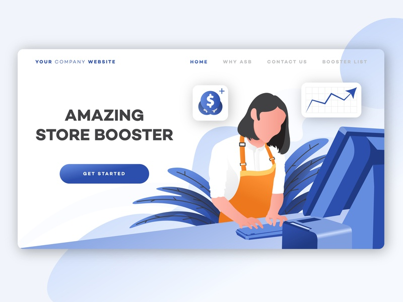 AMAZING STORE BOOSTER branding web illustrator flat website vector ui illustration design art