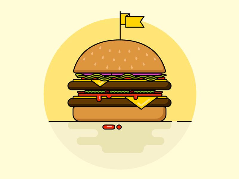 burger vector food burger graphic  design illustration