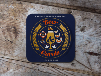 Beer & Carols Beer Mat