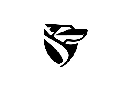 First pass at branding exploration design smashing boxes dog hound shield reliable protect fast benchwarmer brand logo